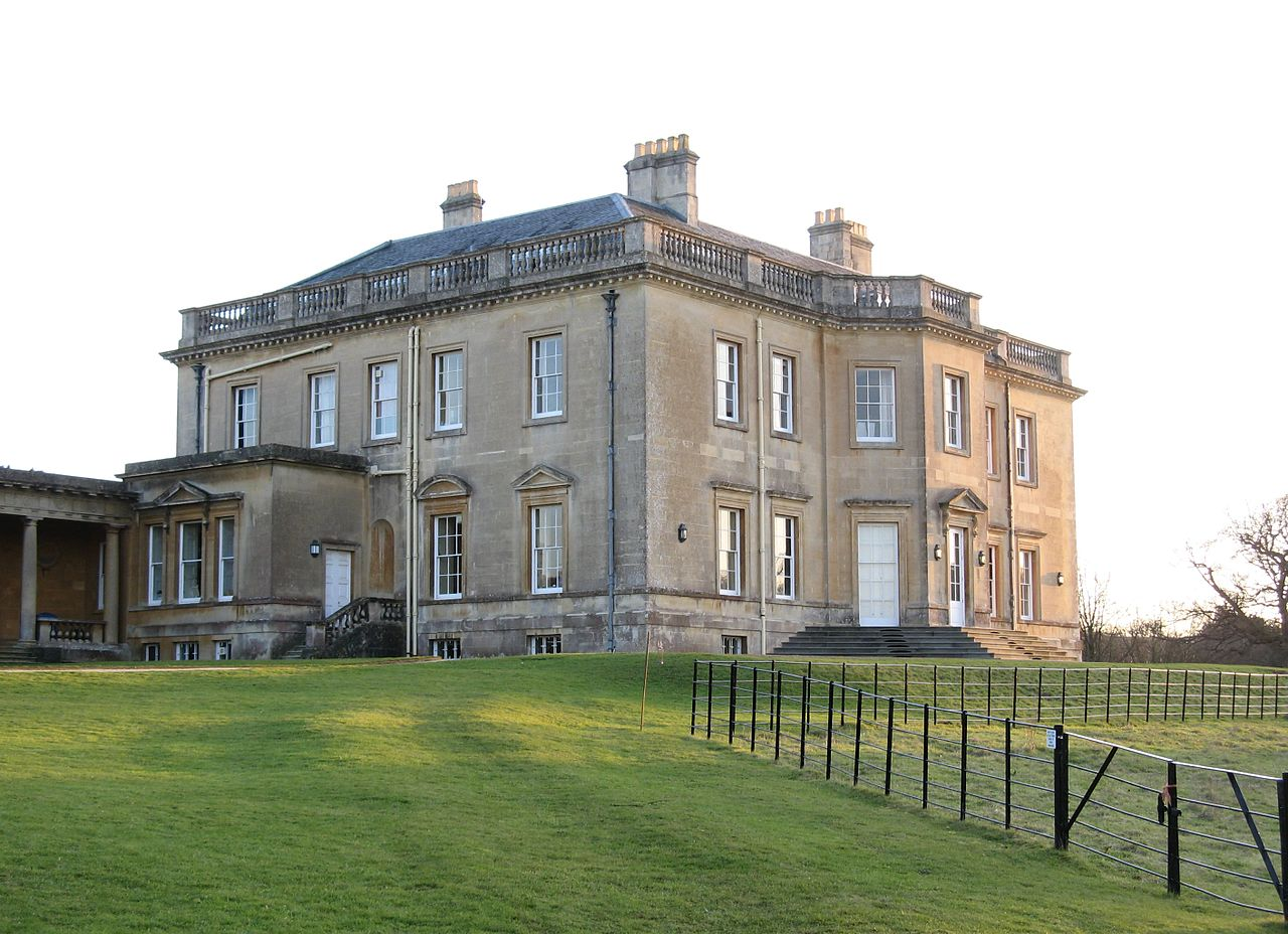 Bath Spa University - The north-west and north-east sides of Newton Park country house, facing toward the lake